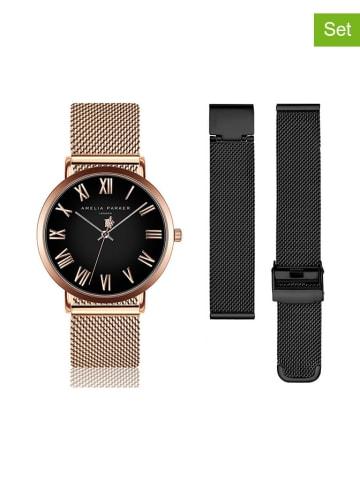 """Amelia Parker Zegarek """"SAB6-1"""" w kolorze różowego złota"""