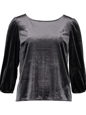 GAP Fluwelen blouse zwart