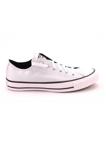 "Converse Sneakersy ""OX"" w kolorze srebrno-białym"