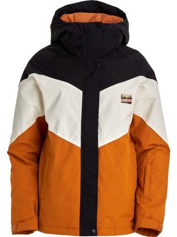 """Billabong Kurtka narciarska """"Good Life"""" w kolorze biało-czarno-pomarańczowym"""