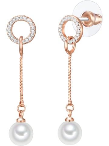 Nova Pearls Copenhagen Pozłacane kolczyki z perłami