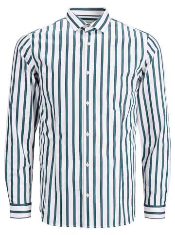 """Jack & Jones Koszula """"PARMA"""" - Super Slim fit - w kolorze biało-niebieskim"""