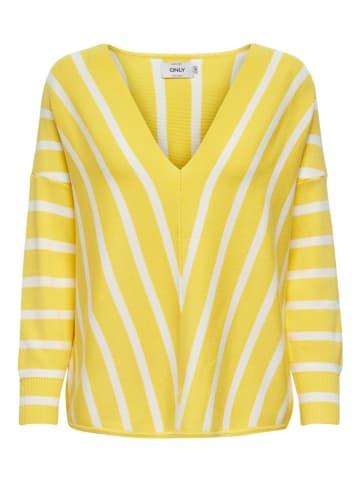 """ONLY Sweter """"Aya"""" w kolorze żółtym"""