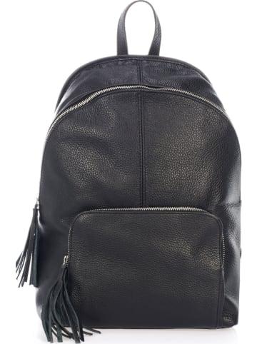 """Mia Tomazzi Skórzany plecak """"Cisano"""" w kolorze czarnym - 35 x 37 x 14 cm"""