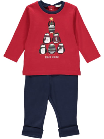 Benetton 2tlg. Outfit in Rot/ Dunkelblau