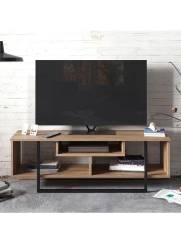 """Scandinavia Concept Szafka RTV """"Asal"""" w kolorze czarno-brązowym - 119 x 40 x 35 cm"""