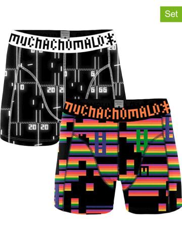Muchachomalo 2-delige set: boxershorts zwart/meerkleurig