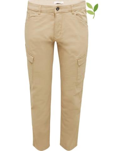 ESPRIT Spodnie w kolorze beżowym