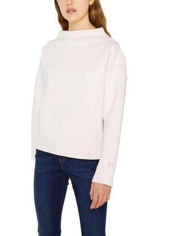 ESPRIT Sweter w kolorze jasnoróżowym