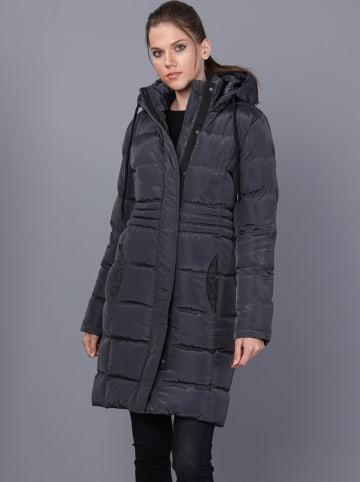 GIORGIO DI MARE Płaszcz zimowy w kolorze antracytowym