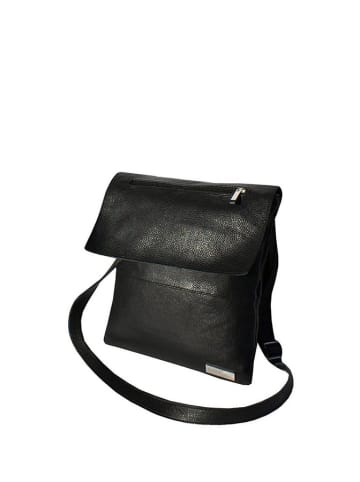 BOSCCOLO Skórzana torebka w kolorze czarnym - (S)23 x (W)31 cm