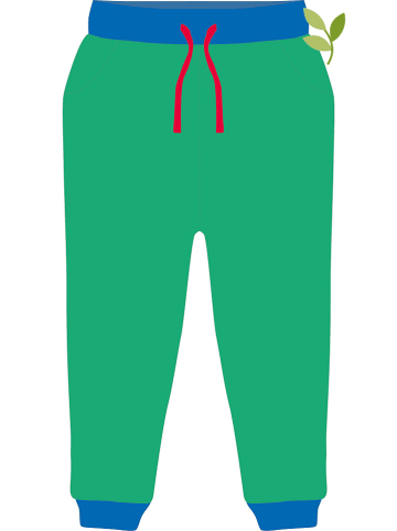 Toby Tiger Spodnie w kolorze zielono-niebieskim