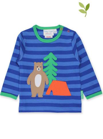 "Toby Tiger Longsleeve ""Camping Bear"" blauw/groen"