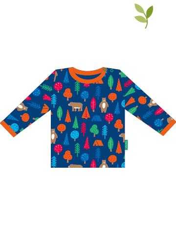 "Toby Tiger Longsleeve ""Camping Bear"" in Blau/ Orange"
