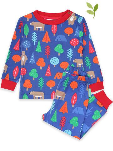 "Toby Tiger Pyjama ""Camping Bear"" blauw/rood"