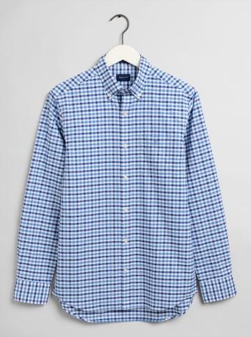 Gant Koszula - Regular fit - w kolorze niebiesko-białym
