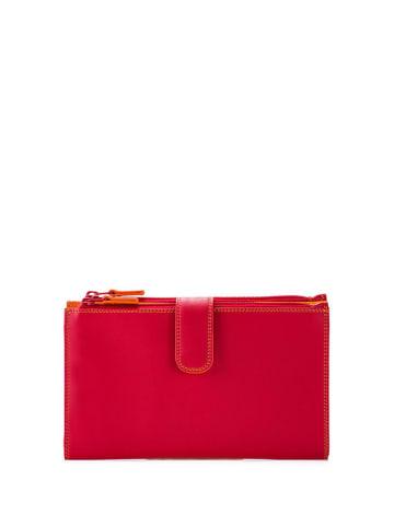MYWALIT Skórzany portfel w kolorze czerwonym - (S)18 x (W)11 cm