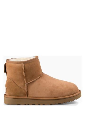 """UGG Leder-Boots """"Classic Mini II"""" in Camel"""