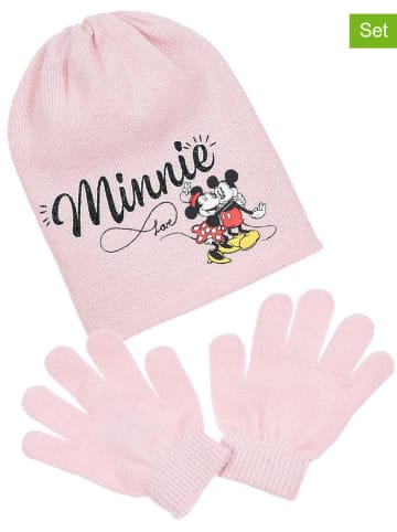 """Disney Minnie Mouse 2tlg. Winteraccessoires-Set """"Minnie Mouse"""" in Rosa"""