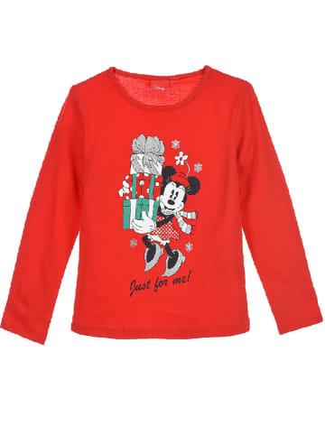 """Disney Minnie Mouse Koszulka """"Minnie & Mickey"""" w kolorze czerwonym"""