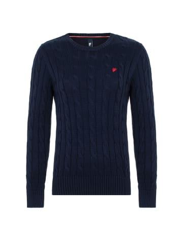 CULTURE Sweter w kolorze granatowym