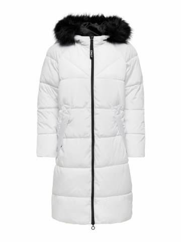 """ONLY Płaszcz zimowy """"Monica"""" w kolorze białym"""