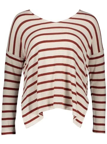 """ONLY Sweter """"Mayea"""" w kolorze kremowo-brązowym"""