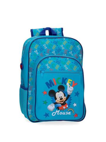 Disney Plecak w kolorze niebieskim ze wzorem - (S)29 x (W)38 x (G)12 cm