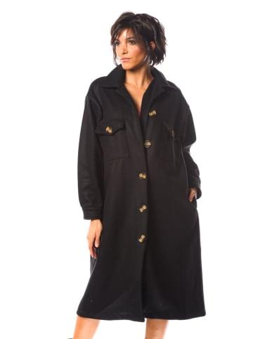 """La Fabrique du Manteau Płaszcz przejściowy """"Arum"""" w kolorze czarnym"""