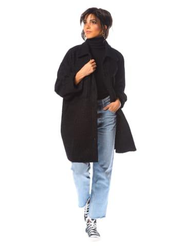 """La Fabrique du Manteau Płaszcz przejściowy """"Mimosa"""" w kolorze czarnym"""