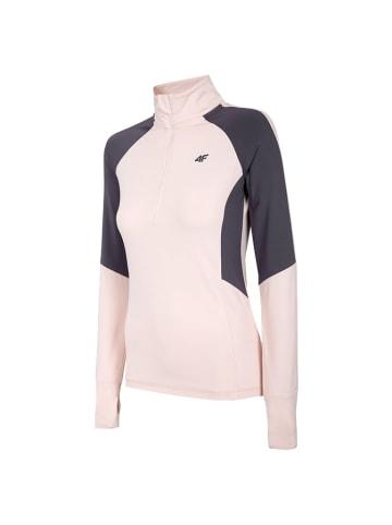4F Functioneel shirt lichtroze/grijs
