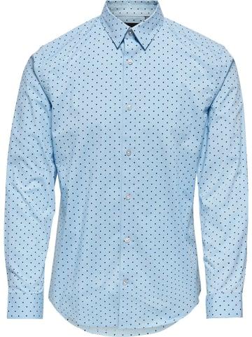"""ONLY & SONS Koszula """"Bart"""" - Regular fit - w kolorze błękitnym"""