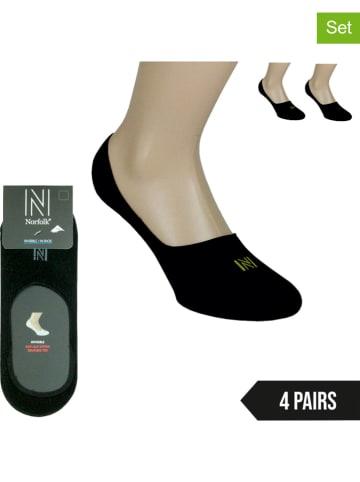 Norfolk 4-delige set: voetjes zwart