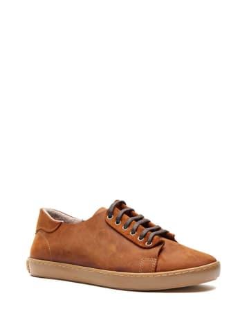 Comfortfusse Skórzane sneakersy w kolorze brązowym