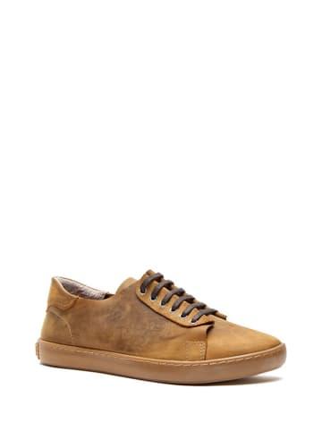 Comfortfusse Skórzane sneakersy w kolorze jasnobrązowym