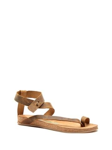 Comfortfusse Skórzane sandały w kolorze jasnobrązowym