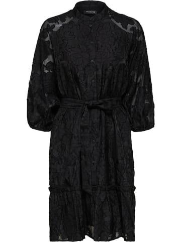 """SELECTED FEMME Sukienka """"Slfsadie"""" w kolorze czarnym"""