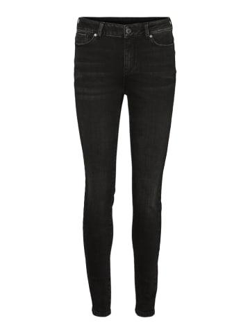 """Vero Moda Dżinsy """"VMSEVEN"""" - Slim fit - w kolorze czarnym"""