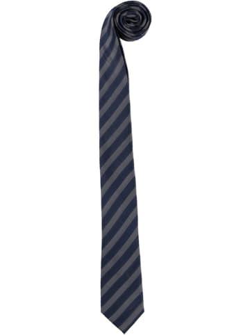 Strellson Jedwabny krawat w kolorze granatowo-szarym