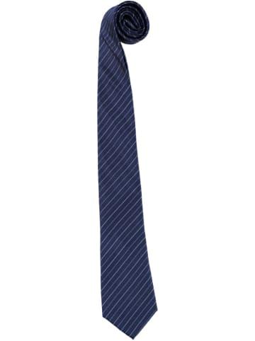Strellson Zijden stropdas donkerblauw