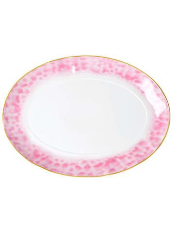 Rice Serveerbord wit/roze - (B)35 x (H)4 x (D)25 cm