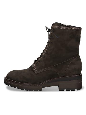 Tamaris Leren boots donkergroen