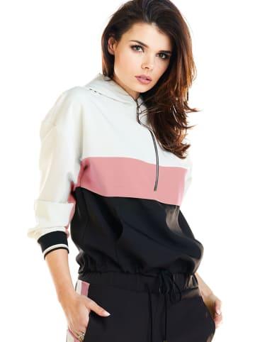Awama Bluza w kolorze beżowo-różowo-czarnym