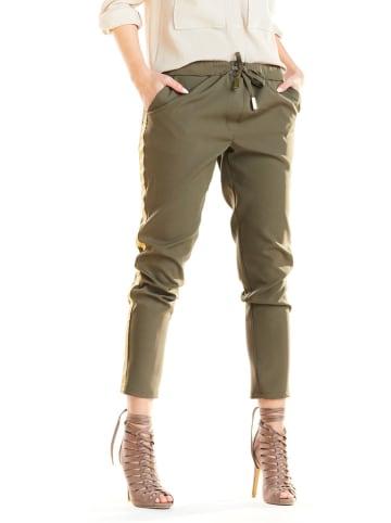 Awama Spodnie w kolorze khaki