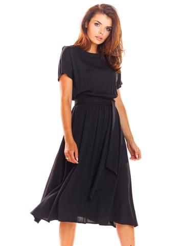 Awama Kleid in Schwarz