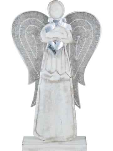 Signes Grimalt Decoratief figuur wit/zilverkleurig - (B)27,5 x (H)47 x (D)7 cm