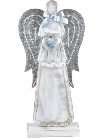 Signes Grimalt Decoratief figuur wit/zilverkleurig - (B)19,5 x (H)40 x (D)7 cm