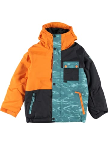 """Billabong Kurtka narciarska """"Arcade"""" w kolorze pomarańczowo-czarno-zielonym"""