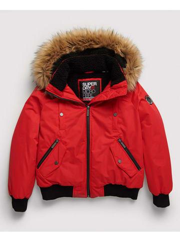 Superdry Kurtka zimowa w kolorze czerwonym