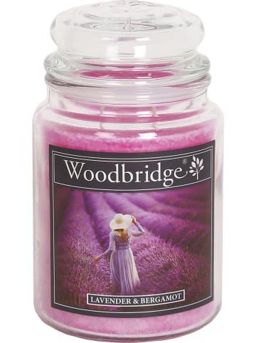 """Woodbridge Geurkaars """"Lavender & Bergamot"""" paars - 565 g"""